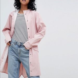 NEW Rains Long Jacket in Pink